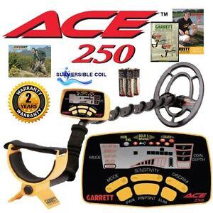 Garrett-Ace-250-Metal-Detector-w-WaterProof-Coil-Free-Shipping