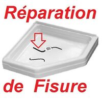 Service de ré-émaillage DE baignoire RÉPARATION d ACRYLIQUE