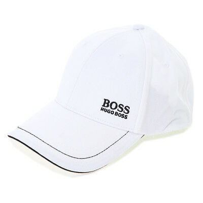 b766fe38ad7 HUGO BOSS Cap Mens Womens White Hat 50245070 100 Adjustable Outdoor  Authentic