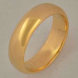 Smooth-9K-Real-Gold-Filled-Men-039-s-Band-Ring-Size7-8-9-10-11-Z744