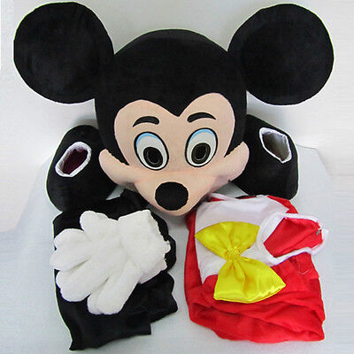 Promotion Adult Mickey Mouse Mascot Costume Cartoon Character Christmas Outfits