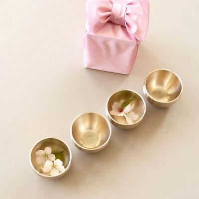 [Notdam]Korean Handmade Brassware Yugi Moon Wine Glasses 4PCS/Yoons Kitchen