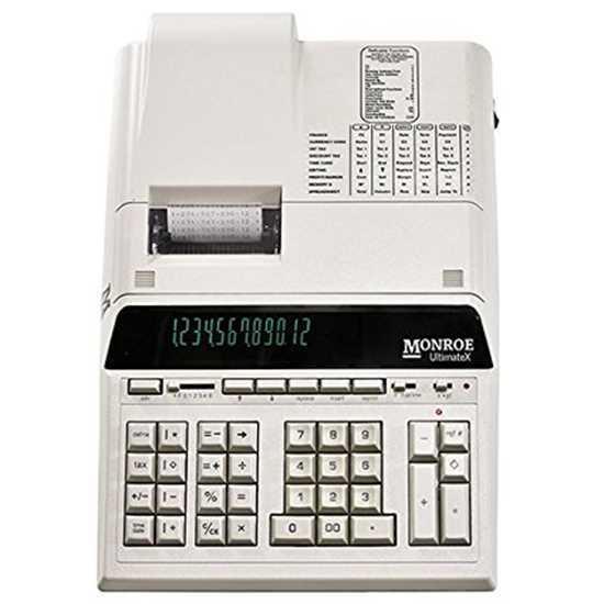 Monroe Calculator UltimateX 12-Digit Print/Display Heavy Duty NIB