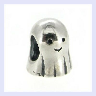 925 Sterling Silver Cute Spirit Ghost Halloween Bead for European Charm Bracelet