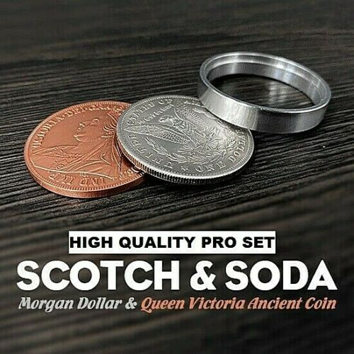 SCOTCH AND SODA HIGH QUALITY PRO MORGAN DOLLAR QUEEN VICTORIA COINS MAGIC TRICK