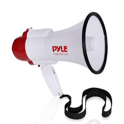 Pyle Megaphone Pa Bullhorn With Built-in Siren Adjustable Volume Voice-changer