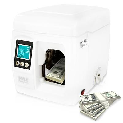 Pyle Bill Currency Binding Machine - Automatic Bank Cash Money Strapping Binder