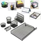 6 Pcs of Set Metal Mesh Office Desktop Organizer File Tra...