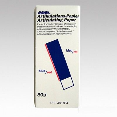 Dental Hanel Articulating Paper 80u I Shaped 144x Blue Red Offer