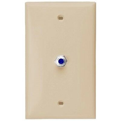 Eagle Wall Plate Ivory F Type Jack 3 GHz F-81 Coaxial Video DIRECTV Approved Video F-type Wall Plate