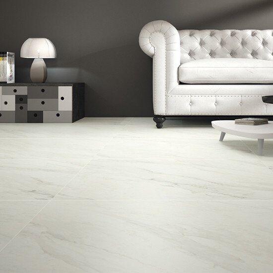 White Marble Effect Porcelain Tiles 80cmx80cm In Islington