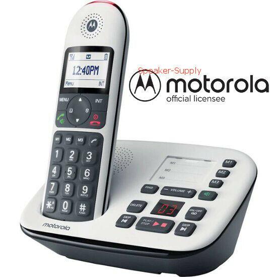 Motorola CD5011 DECT 6.0 Answering Machine Cordless Phone Sy