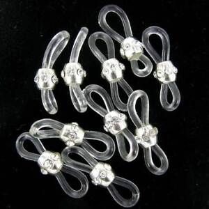 Spectacle Ends for glasses chain cord thread-  Clear Luxury 5pairs CSP