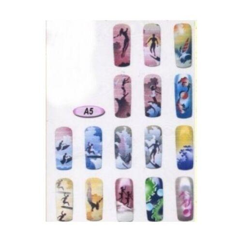 Airbrush STENCIL  Designs  Nail art Sports Theme #A5
