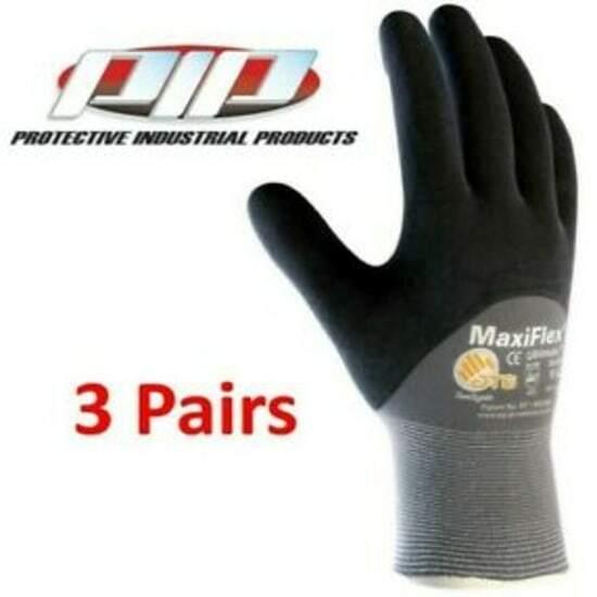 GTek 34-875 MaxiFlex Ultimate Nitrile Foam Coated Gloves, 3 Pair Pack, Pick Size Business & Industrial