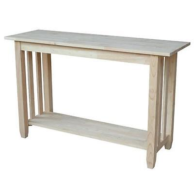 Unfinished Solid Parawood Mission Console/ Sofa Table Modern Furniture Sofa