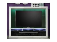 Melody LCD TV Stand In Gloss White With LED Lighting