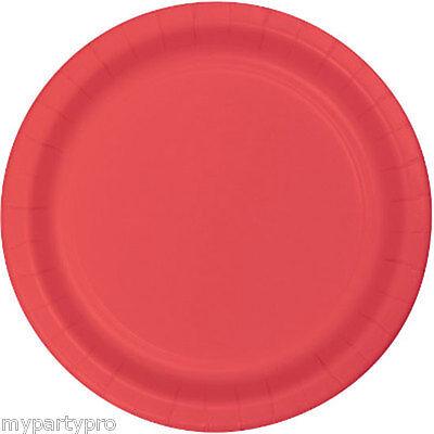 Coral Tableware Round Paper Dessert Plates Wedding event Birthday party supplies