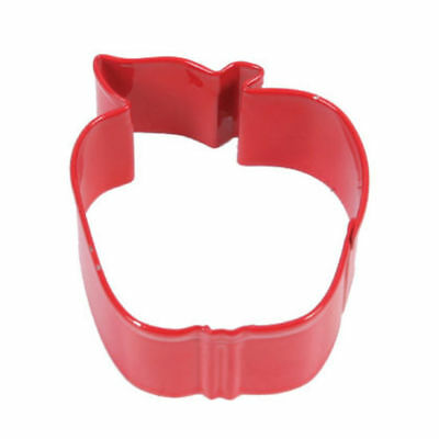 Red Apple Shaped Cookie Cutter - Pastry and Biscuit Cutter Metal 7cm Shaped Cookie Cutter
