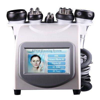 5in1 40k Cavitation Multipolar Rf Vacuum Spa Head Cavitation Face Machine Usa