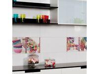 White Gloss Finish Ceramic Tiles (30cmx60cm)