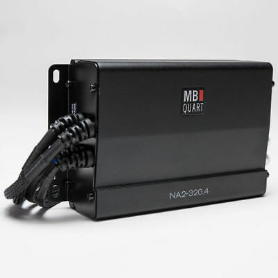 MB Quart NA2-320.4 320W 4-Channel Marine Rated Powersport Class-D Amplifier