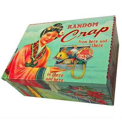 Random Crap Tin Wu and Wu Gorgeous Kitsch Tin Box Gift Vintage Retro Storage