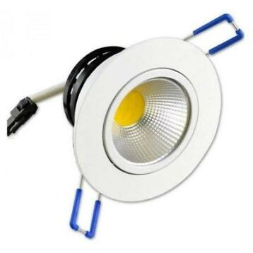 LED COB INBOUWSPOT 5W wit 6000K 85mm KANTELBAAR