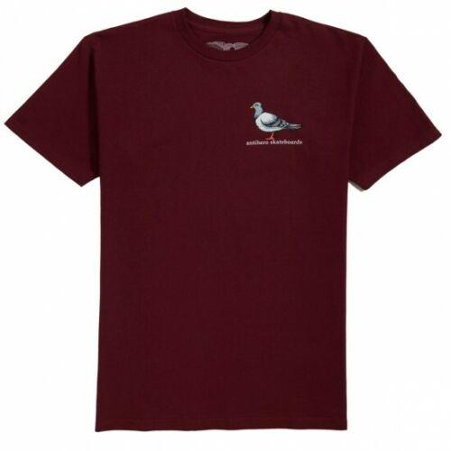 ANTIHERO Skateboards Lil Pigeon Todd Francis Burgundy T-Shirt