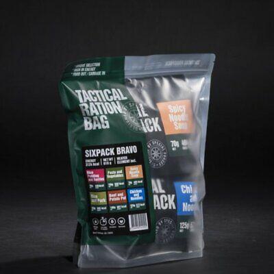 Tactical Foodpack Seis Paquete Bravo Freeze Seca Espedition Comida Caja Prepper
