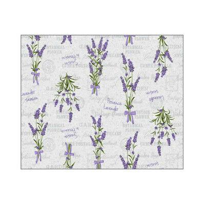 Tischdecke Meterware Wachstuch abwaschbar , Lavendel lila 1010-2