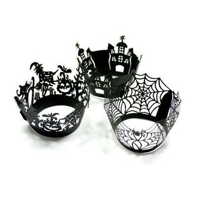 Halloween Cupcake-Dekoration 12/Pack für Muffins 4 Varianten - Spinne Für Halloween Dekoration