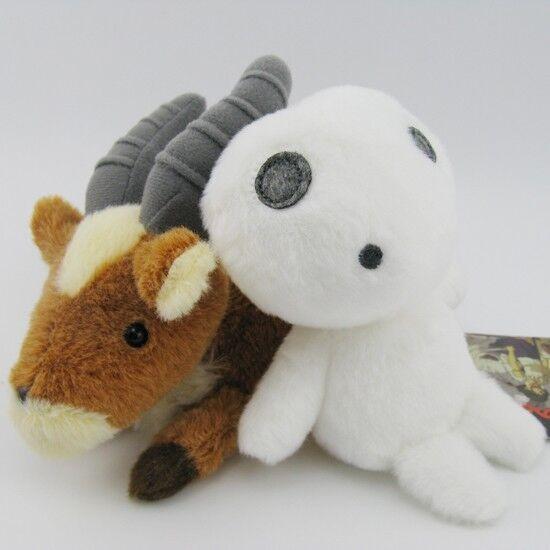 2pcs Ghibli Princess Mononoke Hime yakkuru KODAMA Soft Plush toys