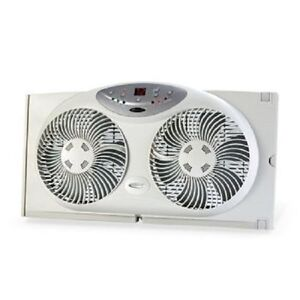 Bionaire Twin Window Fan (BWF0910AR-XWCU) w/ Remote Control & Digital Thermostat