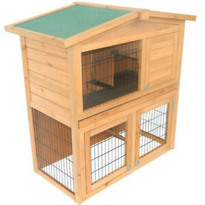 "Rabbit Hutch 40"" / Chicken Coop / Wooden Hutch For small animals"