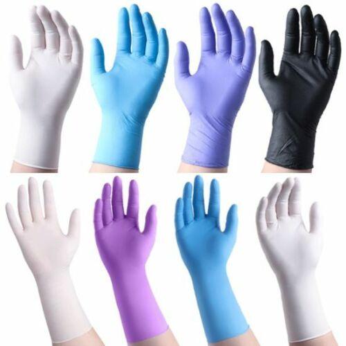 Gloves Nitrile Vinyl up to 1000 Pcs (Latex Free + Powder Free) Black Blue Purple