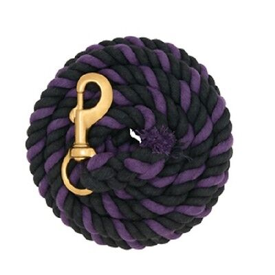 WEAVER PURPLE AND BLACK COTTON LEAD ROPE HORSE TACK
