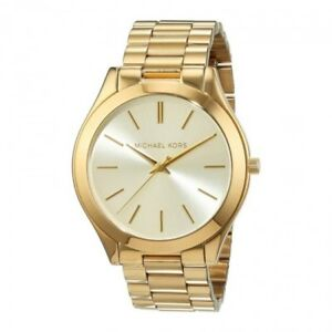 Brand New MICHAEL KORS Womens Slim Gold Coloured Watch