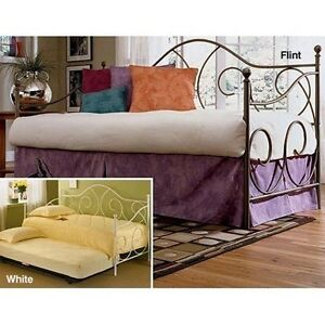 caroline daybed with pull out pop up trundle in flint finish twin size ebay. Black Bedroom Furniture Sets. Home Design Ideas