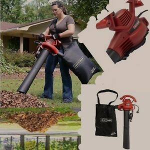 Leaf Blower Vacuum Sucker Shredder Lawn Yard Mulcher Bag 2 Speed Electric Core