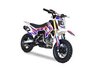 10 Ten 50 & 90 kids pitbikes now in stock. Fully Auto & Geared Versions available from £649