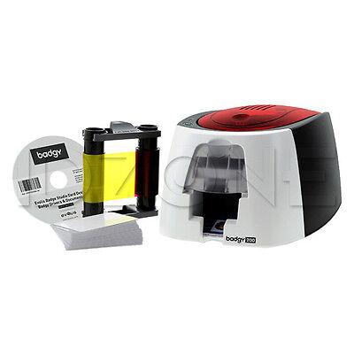 New Evolis Badgy200 Single Sided Id Card System   B22u0000rs
