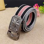 Men Canvas Alloy Buckle Belt Casual Durable Tactical Buck...