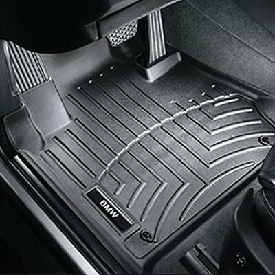 BMW Black All Weather Floor Liners 2007 2013 328i 335i Cpe Sdn FRONT 82112220870