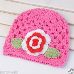 Warm Winter Baby Infant Toddler Beanie Hat Kids Boys Girls Hand Crochet Knit Cap