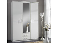 1/ BRAND NEW 3 DOOR 2 DRAW WARDROBES 5 ONLY LEFT FROM HUGE CONTRACT BRAND NEW 50776DEEBDDUDB