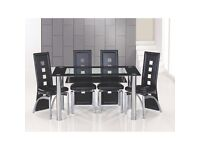 Black glass dinning table only