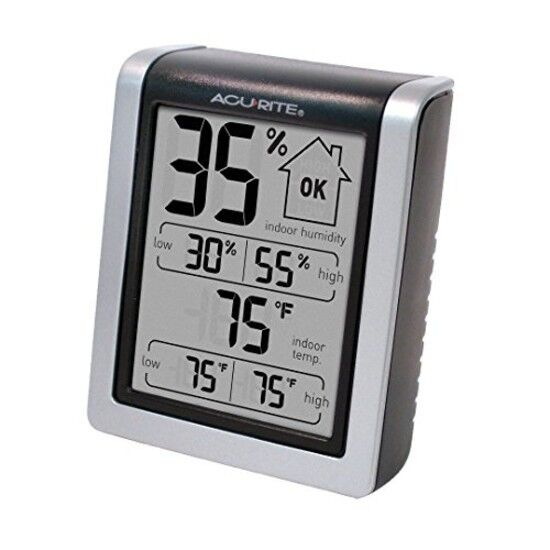 AcuRite 00613 Humidity Monitor with Indoor Thermometer, Digital Hygrometer and