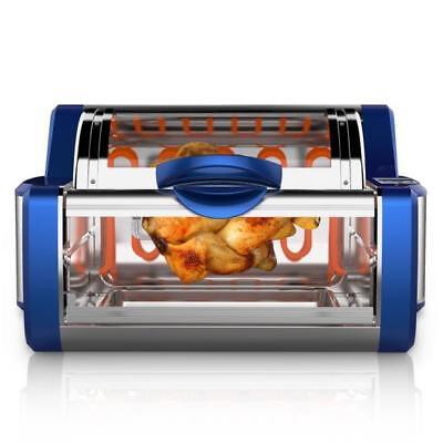 NUTRICHEF PKRTVG65BL Digital Countertop Rotisserie & Grill Oven, Rotating Cooker