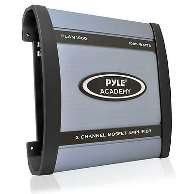 Pyle Car Audio PLAM1000 New 1000W 2 Channel Bridgeable